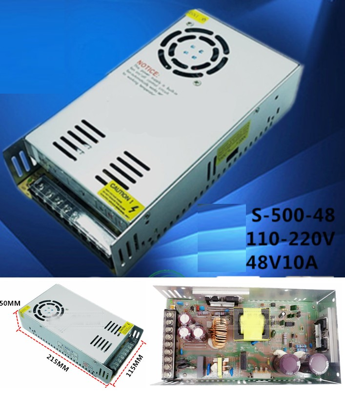 AC 110/220V- 48V 10A Switch Mode Power Supply 480W
