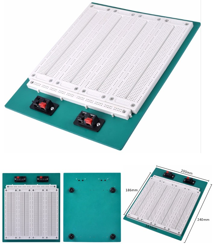 SYB-500 Breadboard PCB Solderless 2900 Points DIY