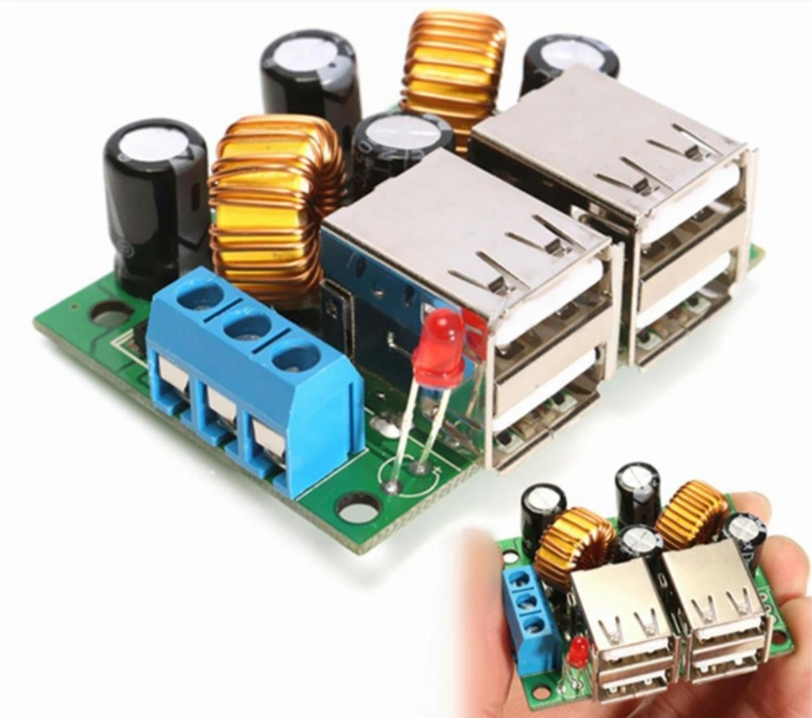 4-USB 5V 4.8A Intelligent Step Down Power Module C