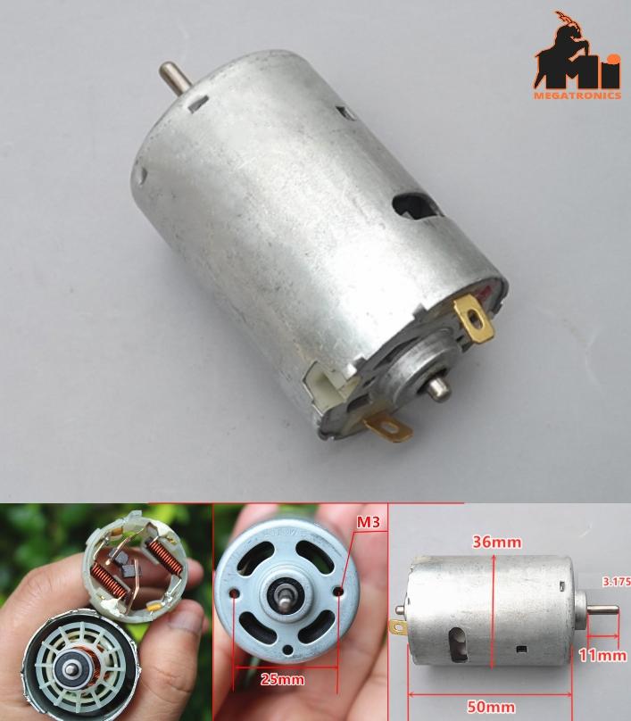12V high speed high torque 545 motor Double ball b