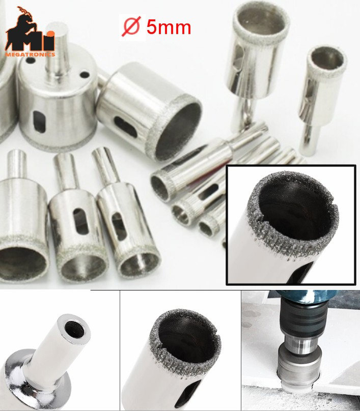 Glass Drilling Bit 5mm hole Opener Diamond Coated