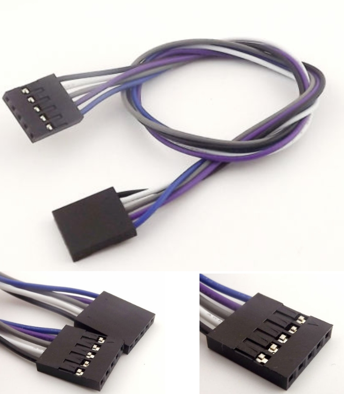 30cm 5 Pin female to female Cable Dupont 2.54mm pi