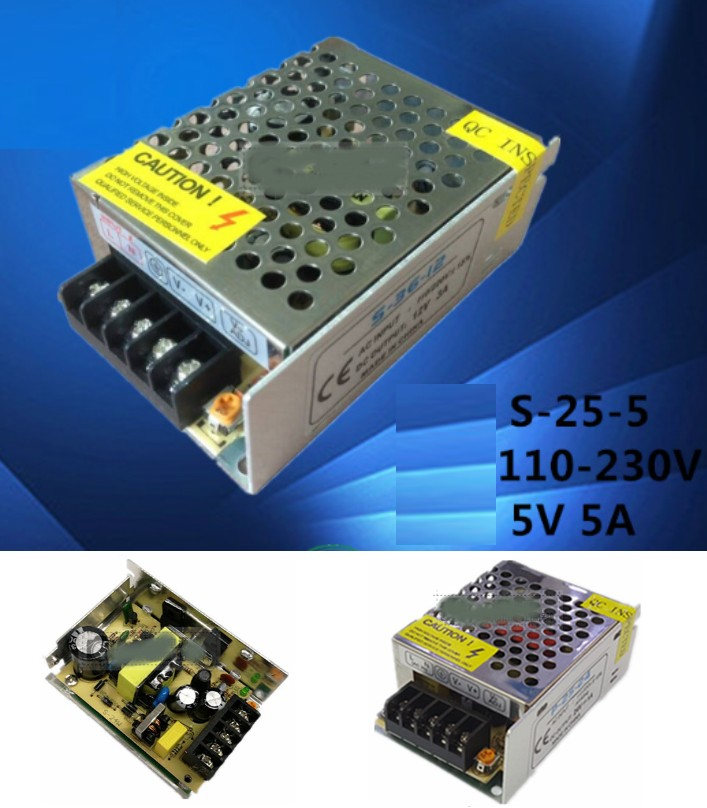 AC 110/220V to 5V 5A Switch Mode Power Supply 25W