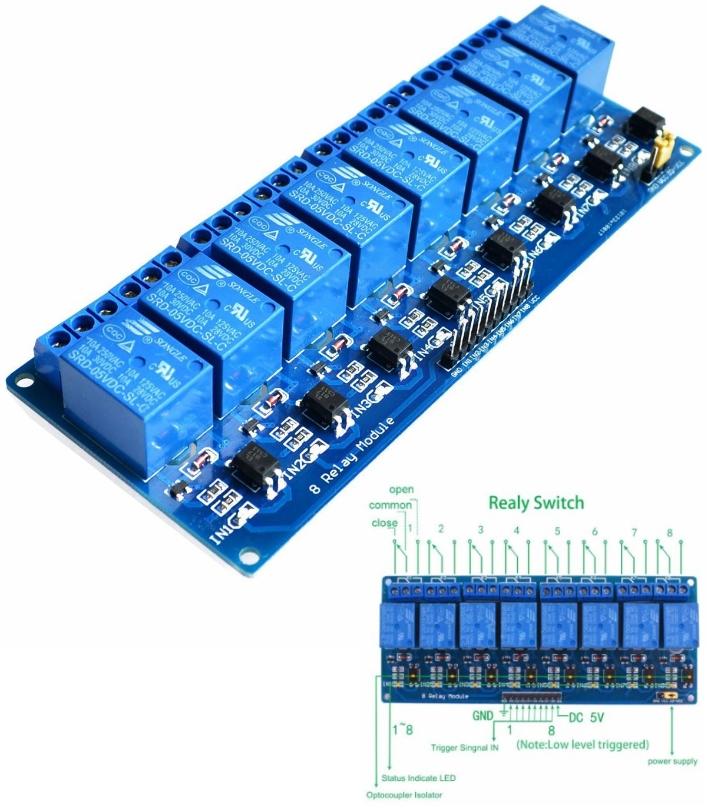 5V 8 Channel Relay Module Board for Arduino PIC AV