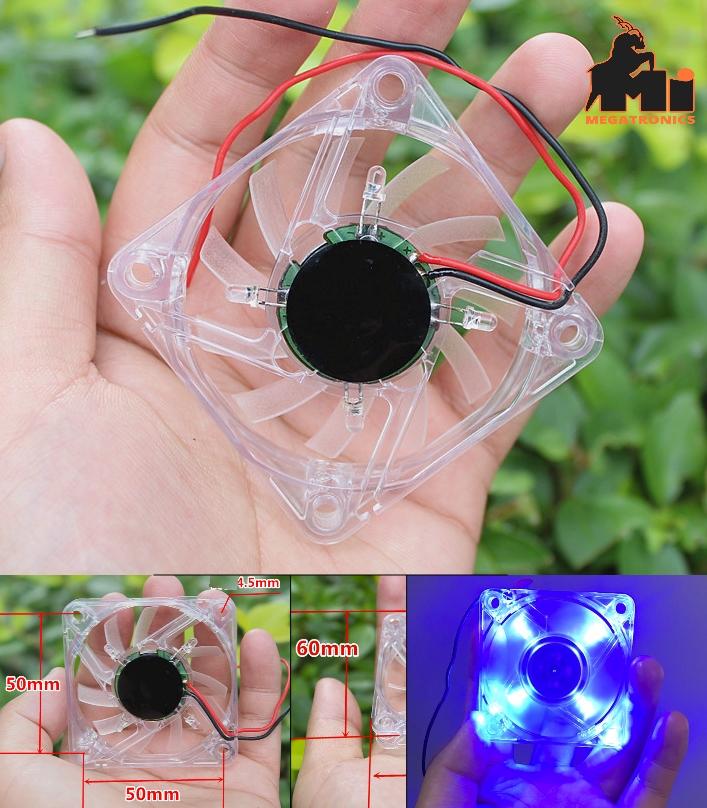 6012 small fan breeze cooling LED fan 6cm brushles