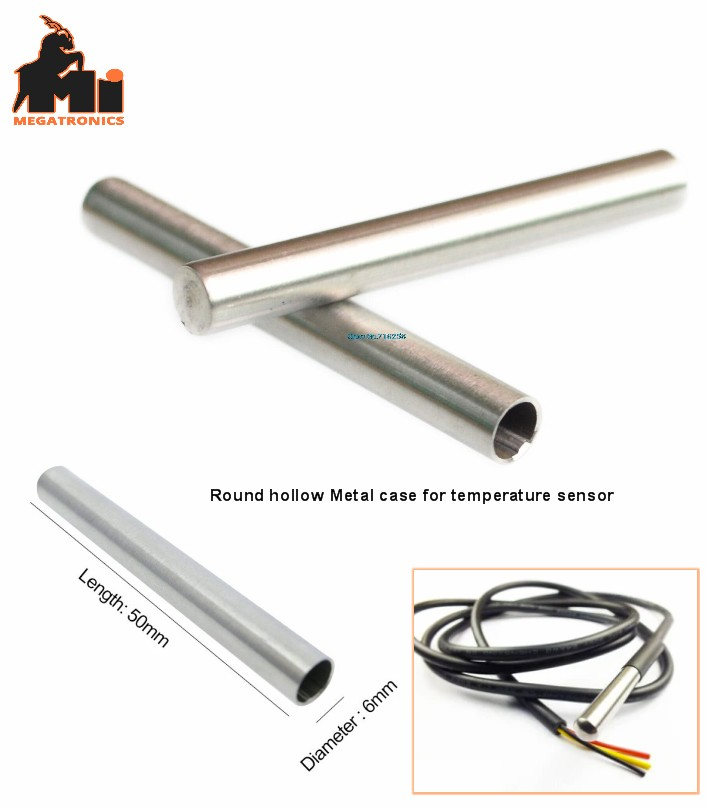 protective sleeve 6×50 hollow Temperature tube sensor PT100 DS18B20 stainless st