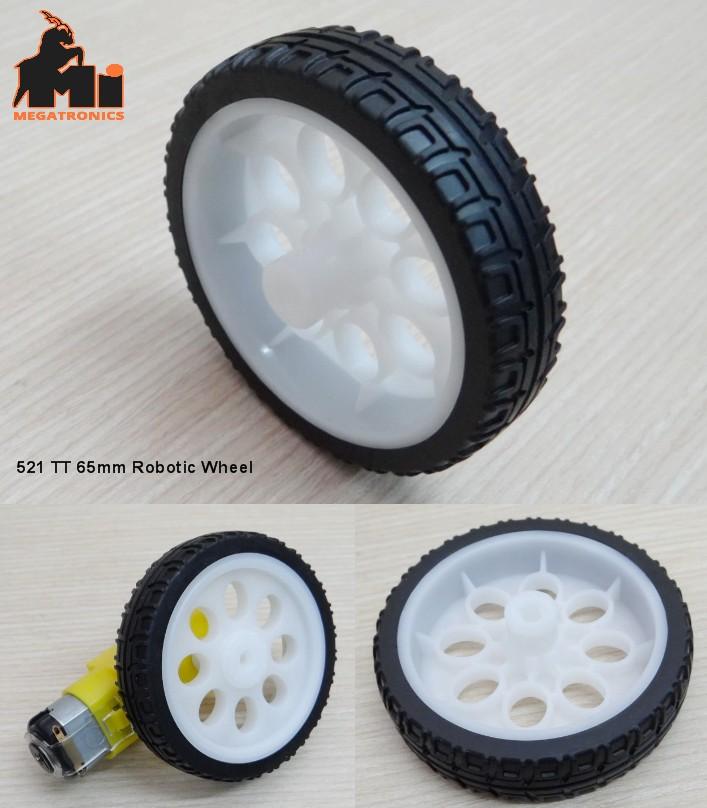 521 65mm Rubber Wheel tyre tire Robot Tire TT tyre Robot Smart Car Platform