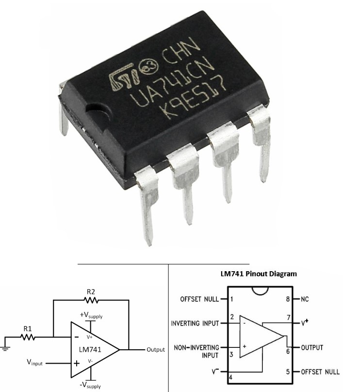 UA741 LM741 Operational Amplifier op-amp