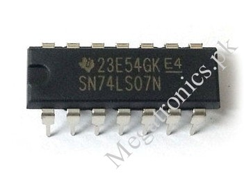 SN74LS07N 7407 Hex buffer driver 74LS07 Logic IC