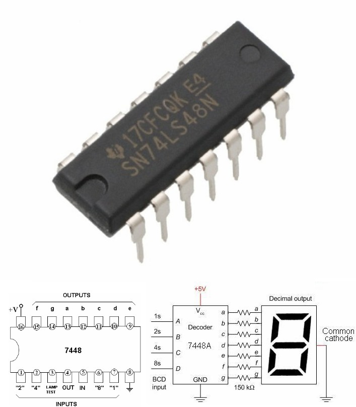 74LS48 BCD to 7-Segment Decoder 7448