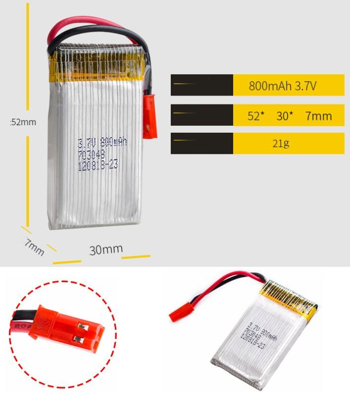 3.7V 850mah 20C 1S lipo battery small drone copter
