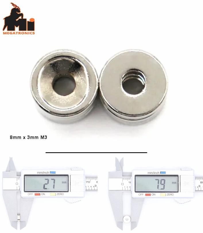 NdFeb N35 8*3-3mm Round Countersunk Ring Magnet Rare Earth Neodymium Magnet 8mm