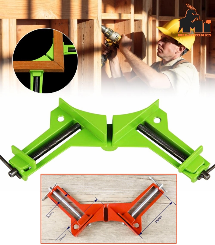 Reinforced 90° Right Angle Clip Fixed Corner Clamp