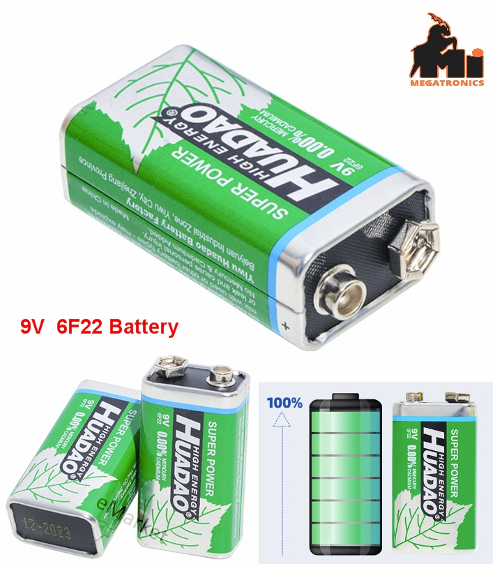 6F22 9V Battery Multimeter Microphone Toy Remote gallon type battery