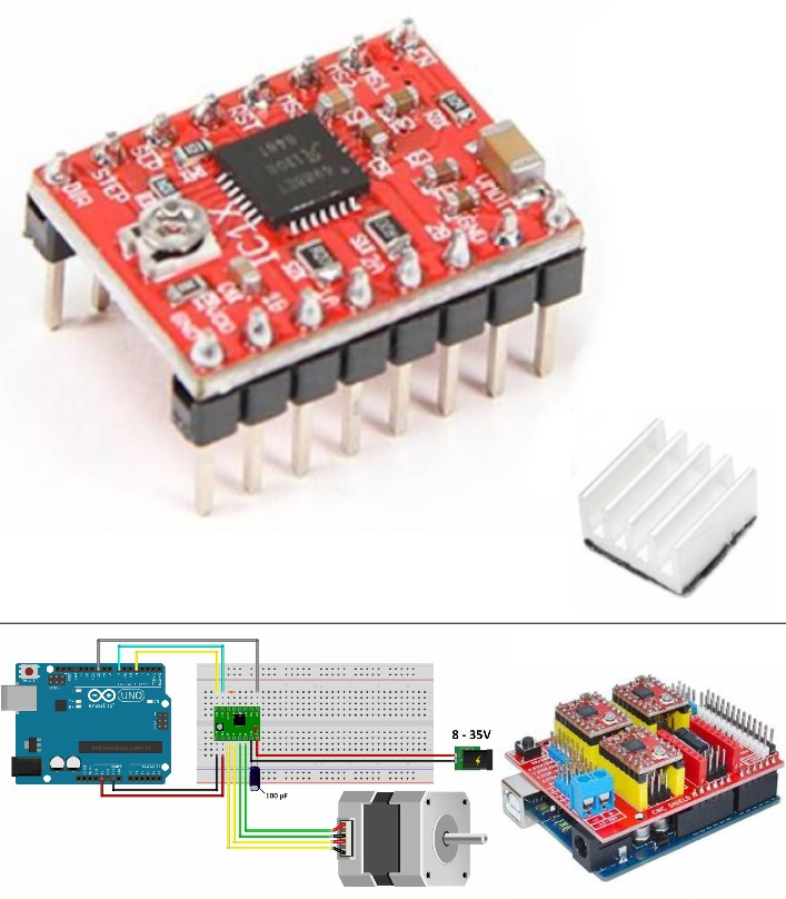 A4988 Reprap Stepper Motor Driver CNC 3D Printer