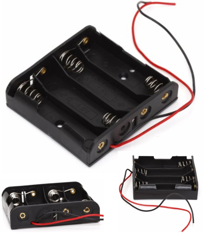 Battery Box Holder Case for 4 AA Batteries 6V with