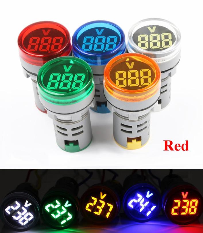 Red AC220 Voltage meter indicator display AD101-22
