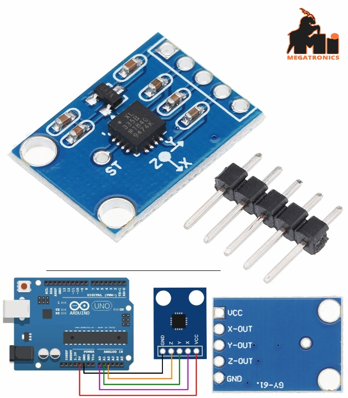 GY-61 ADXL335 3-Axis Compass Accelerometer Module 3-Axis Analog