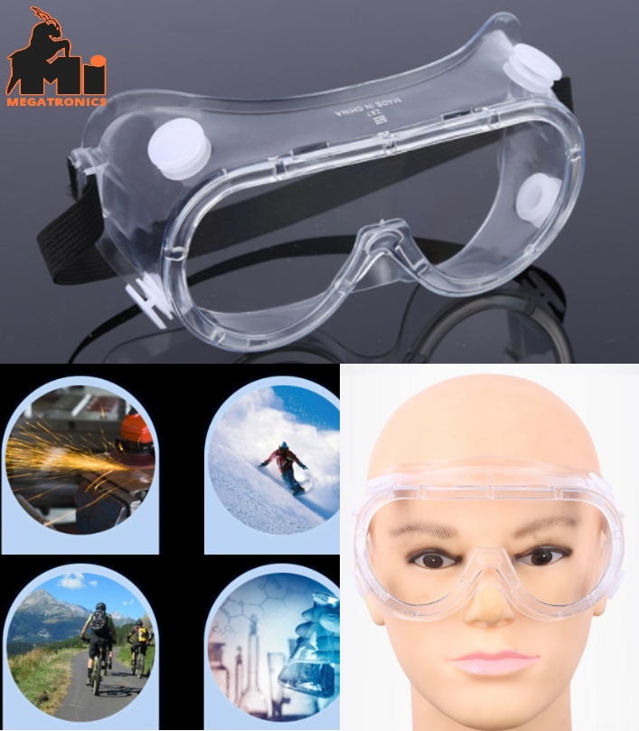 goggles anti impact anti fog safety glasses PC rid