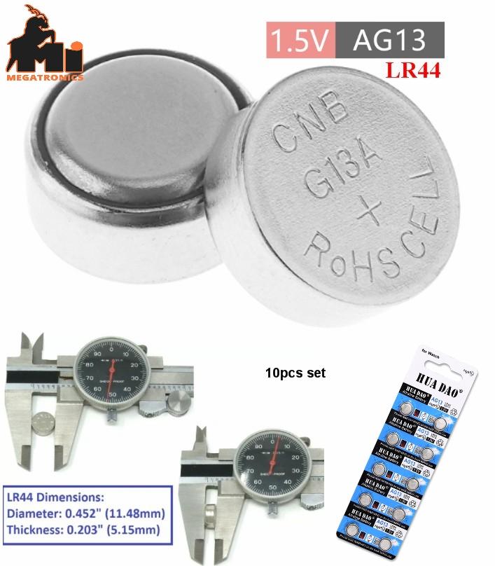 10pcs AG13 LR44 battery 1.5V watch cell A76 L1154