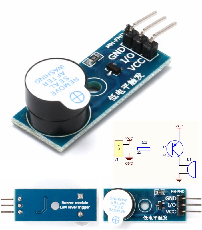 Active Low Buzzer Alarm Module for Arduino