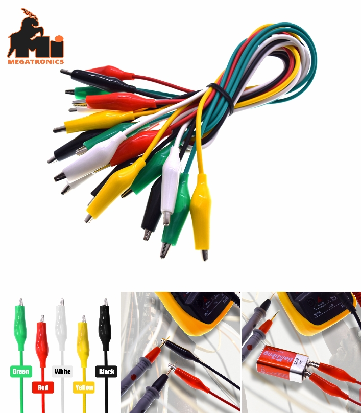 10pcs Double-ended Clips Crocodile Cable Alligator