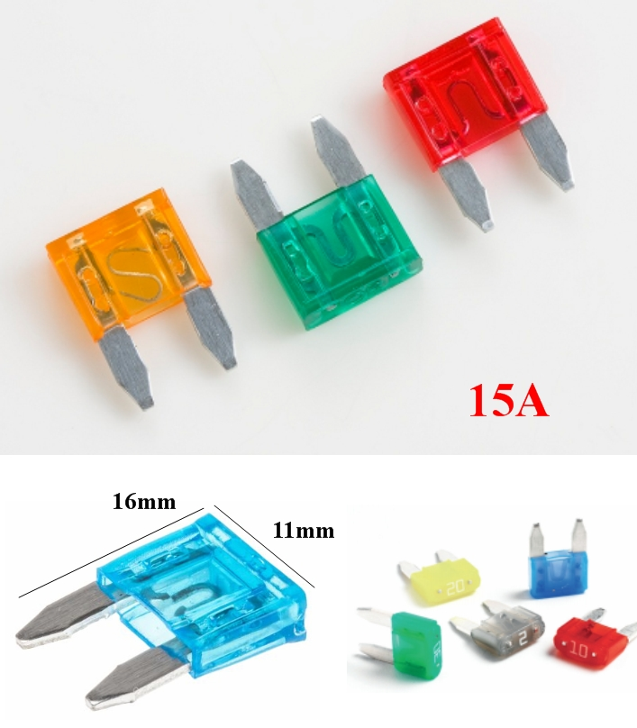15A Mini Blade Fuse Assortment Automotive Car Truc