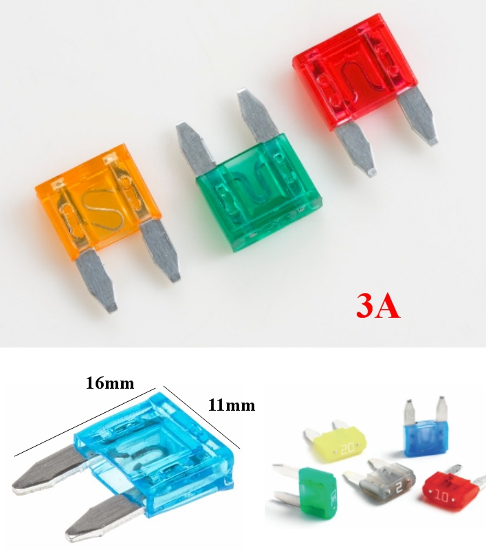 3A Mini Blade Fuse Assortment Automotive Car Truck