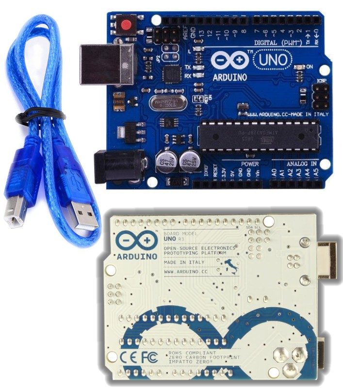 Arduino UNO R3 Italy ATmega328P with USB cable