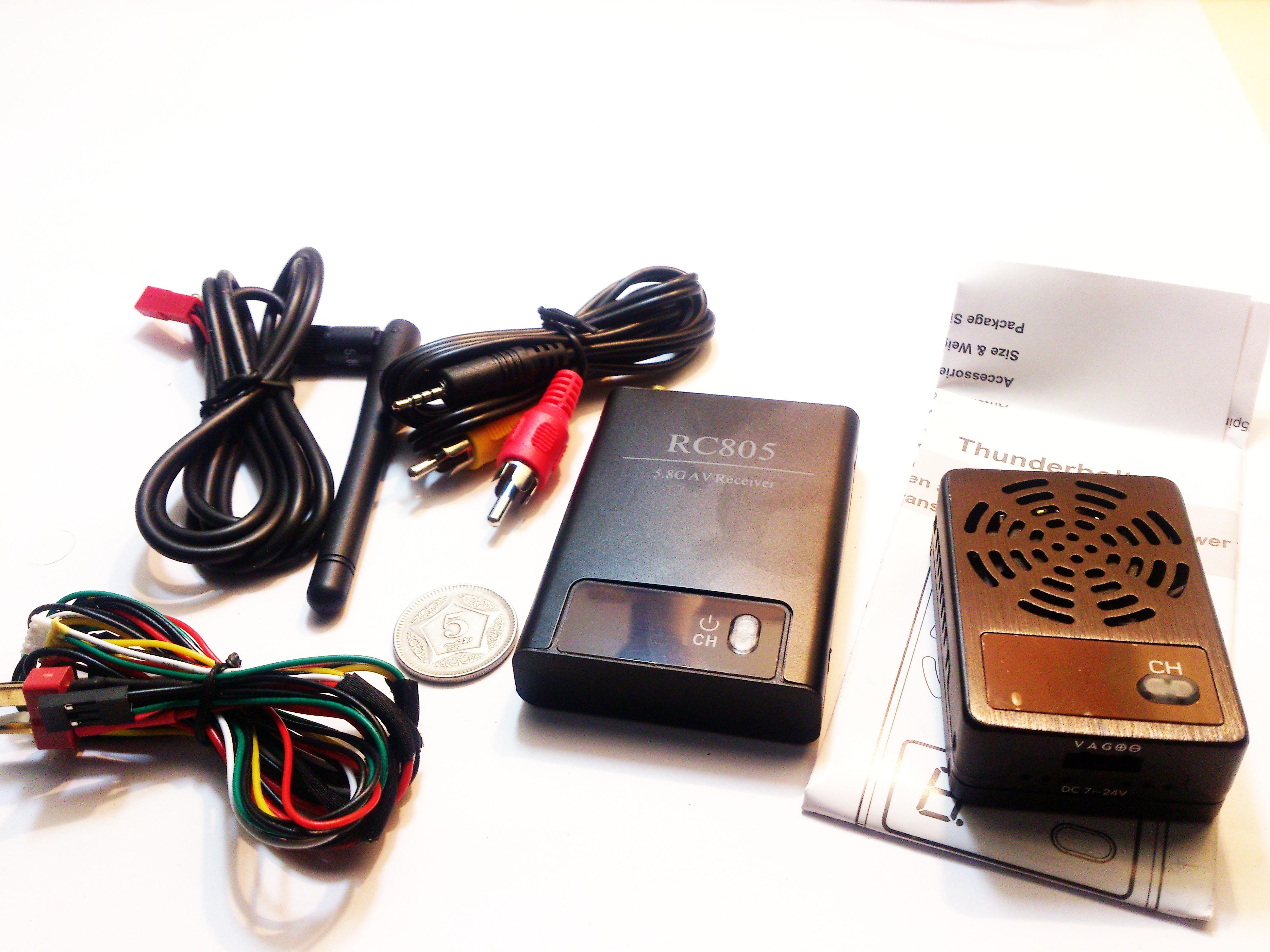 AV Audio Video Transmitter W/ RC805 AV receiver