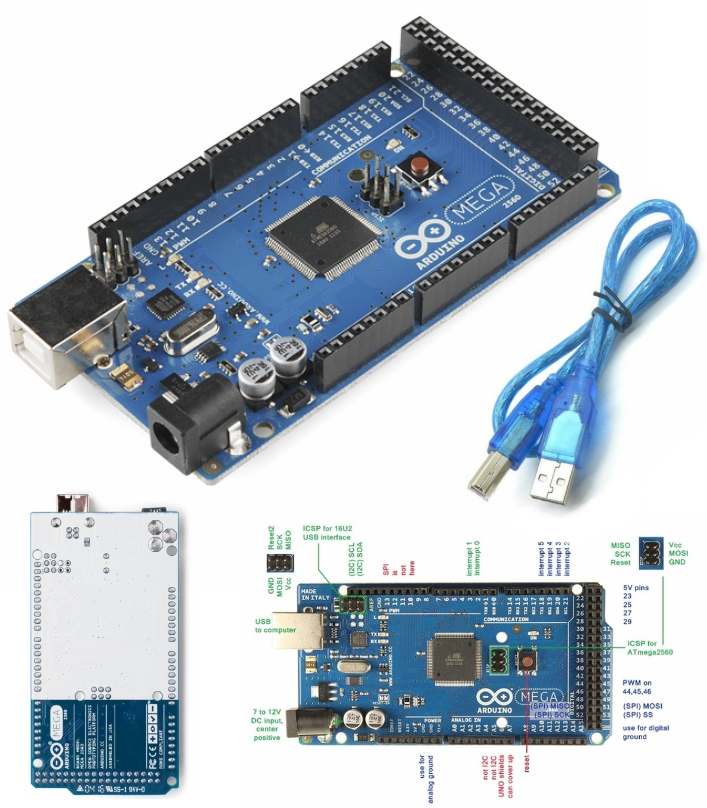 Arduino Mega 2560 R3 with USB Cable (Original)