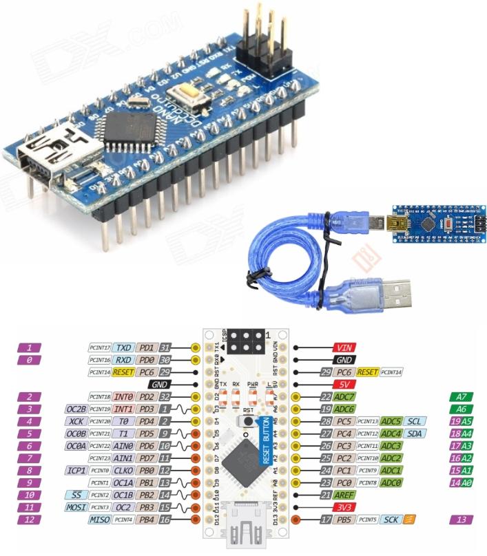 Arduino Nano V3.0 AVR ATMEGA328 Board + USB cable