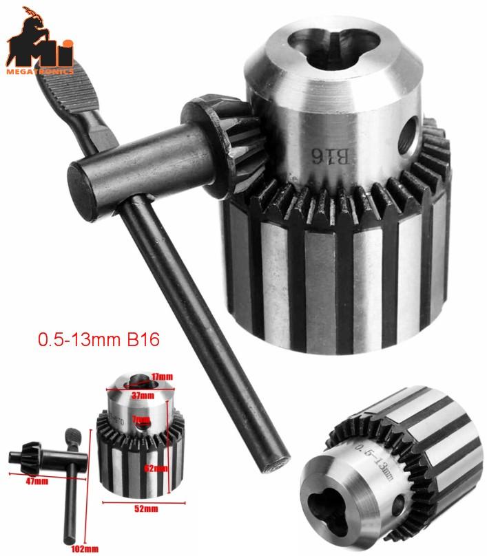 Drill Chuck key 0.5-13mm B16 Mount Taper CNC Heavy