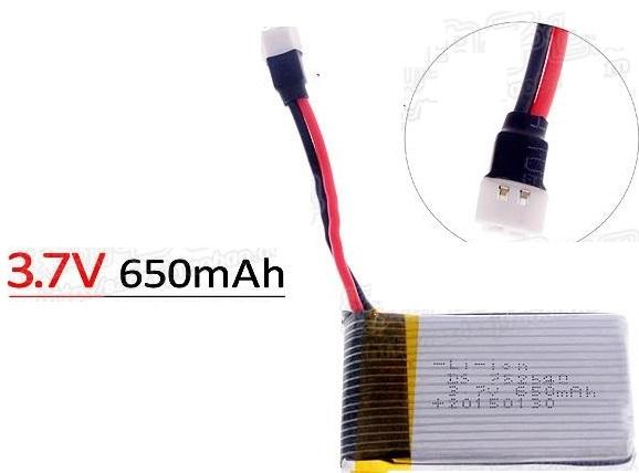 3.7V 650Mah 25C Lipo Battery with HJ connector