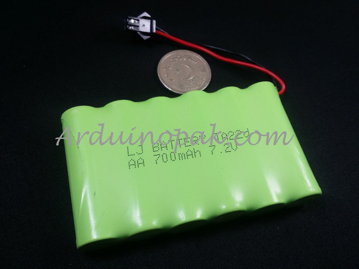 7.2V 700mAh rechargeable nickel-cadmium battery