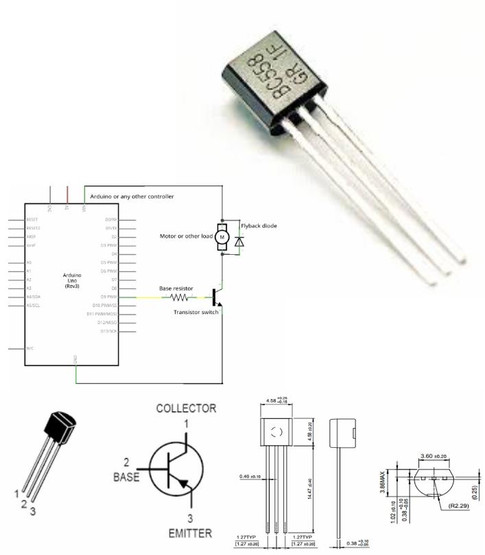 BC558 PNP Bi-Polar transistor DIP