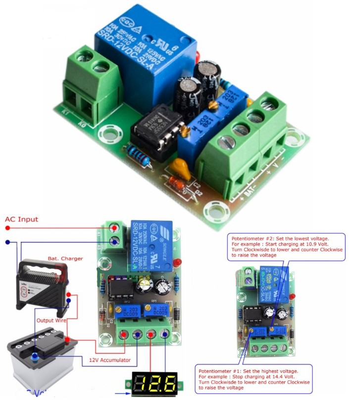 XH-M601 12V Smart Battery Charging Control Board
