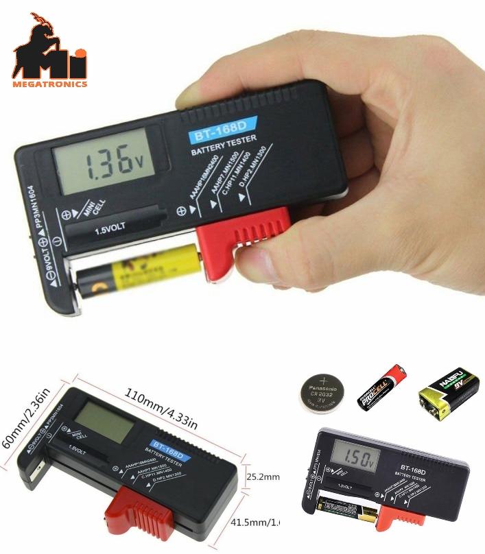 BT168-168D Digital battery tester volt meter AA/AA