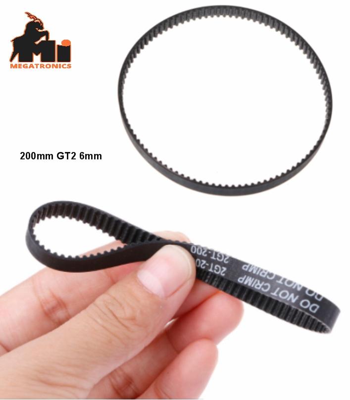200mm Closed Loop GT2 Timing Belt 6mm For 3D Print