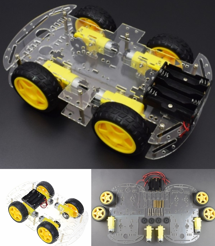 4-Wheel Robot Smart Car Chassis Kits Model With Sp