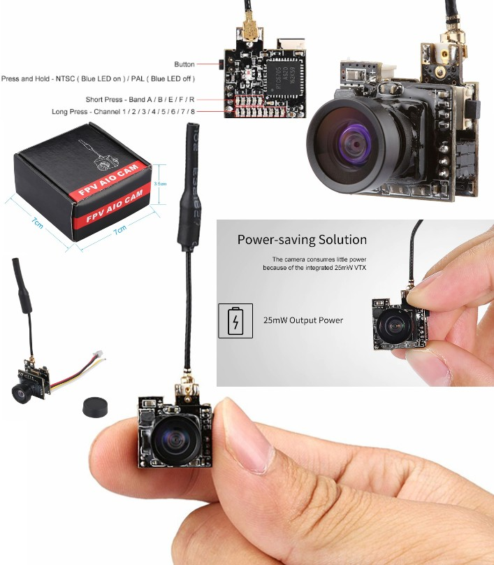 LST-S2 5.8G 800TVL Camera HD Micro CMOS FPV
