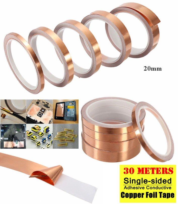 copper foil tape self adhesive, EMI Shielding 30M