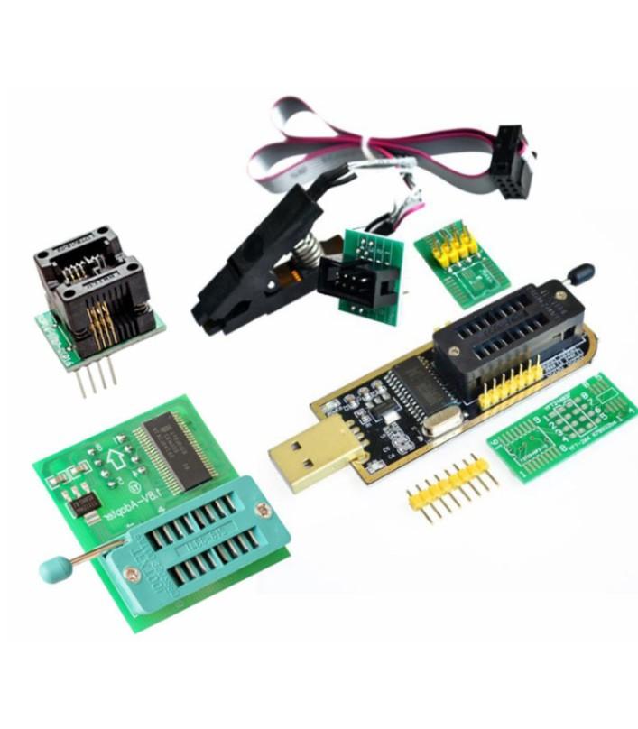 CH341A USB Programmer + SOP8 Test Clip + 1.8V BIOS DIP8 converter