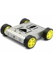 FOUR WHEEL ROBOTIC ROVER CHASSIS, 4WD ( ALUMINIMUM