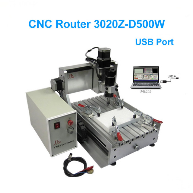 CNC 3020Z-D500W USB 3 axis Router Engraving Drilli