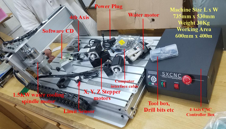 6040Z CNC 1000W 4 Axis engraving machine