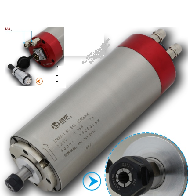 High Speed Spindle 1.5KW motor strong 4 bearings
