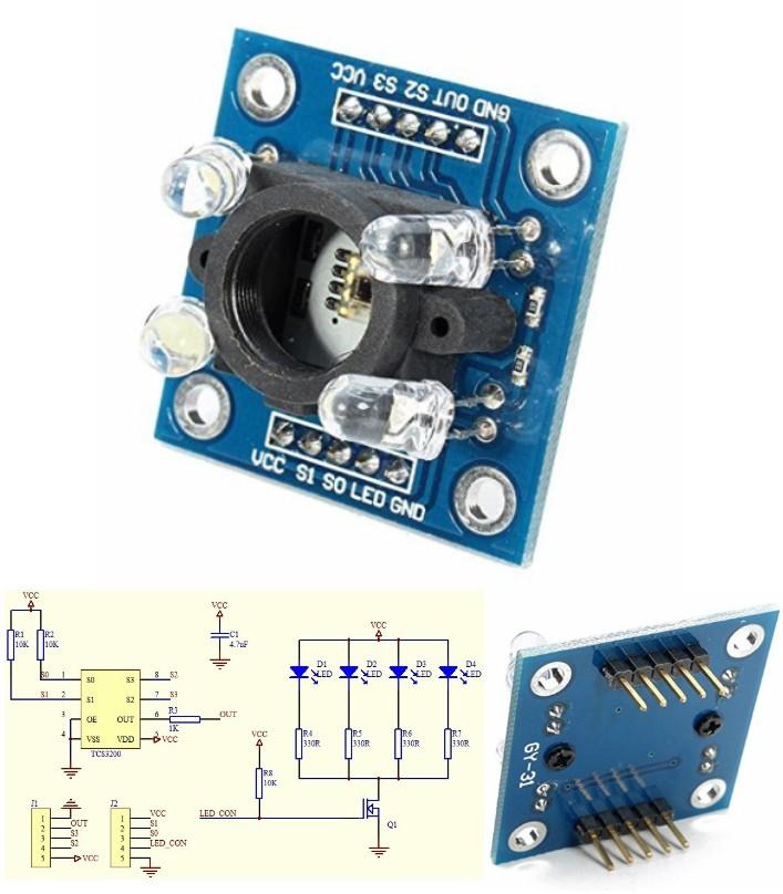 TCS230 TCS3200 Color Sensor GY-31 Recognition