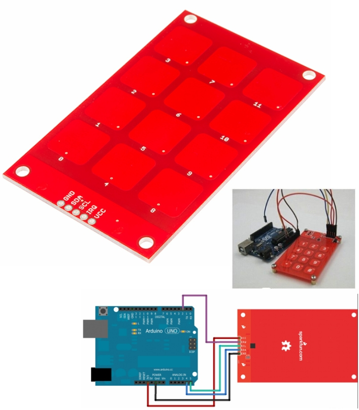 Capacitive Touch Keypad - MPR121 arduino