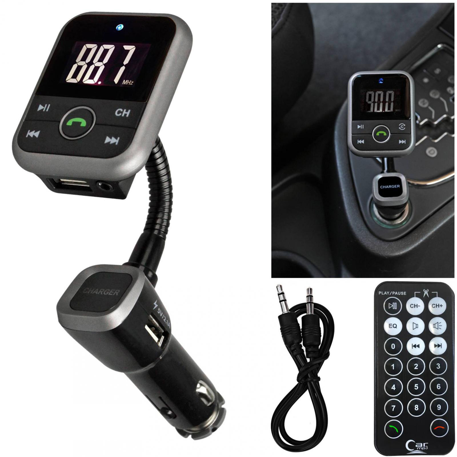 Bluetooth Wireless Handsfree Car FM Transmitter SD